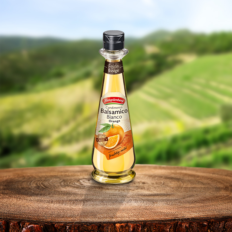 Condimento Balsamico Bianco Orange 250ml - Feine Essige von Hengstenberg